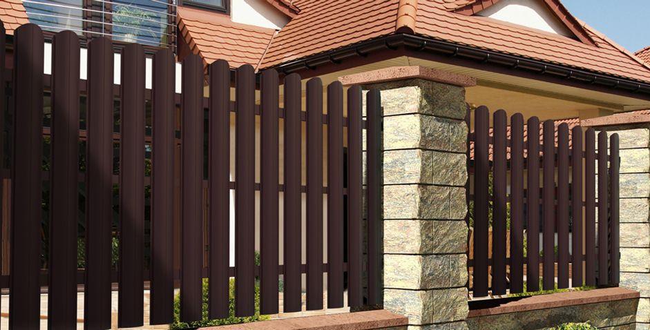 Забор из штакетника Aluzinc