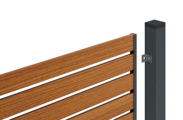 монтаж деревянных панелей забора