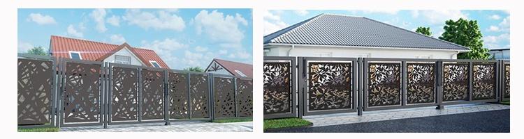 современный забор из металлопрофиля