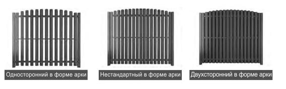 забор из металлического штакетника в Москве ALUZINC