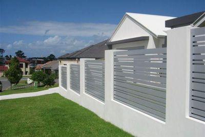 Серый алюминиевый забор