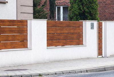 Алюминиевый забор с термодеревом