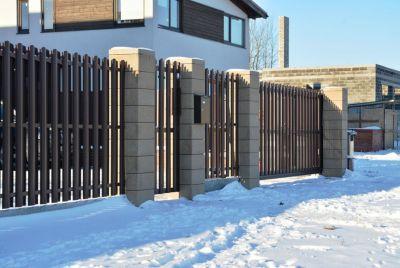 Модульный забор из металлопрофиля