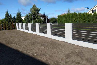 Забор из композитных досок