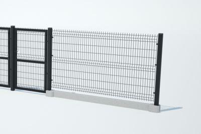 Забор из панельной проволоки